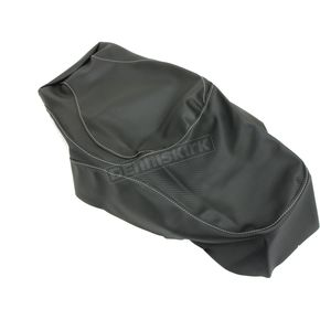 Black Carbon Gray Stitch Seat Cover - SB-K04