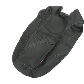 Black Carbon Gray Stitch Seat Cover - SB-K12