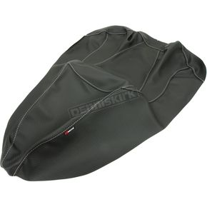 Black Carbon Gray Stitch Seat Cover - SB-S02