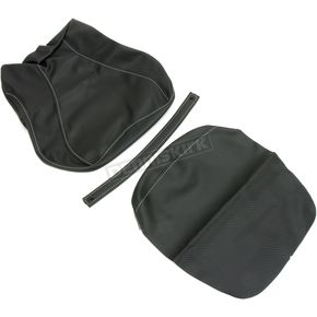 Black Carbon Gray Stitch Seat Cover - SB-Y015