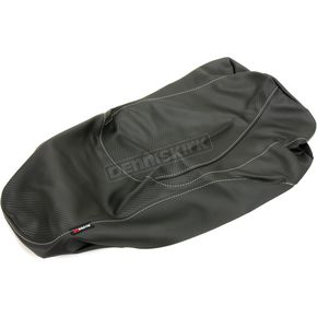 Black Carbon Gray Stitch Seat Cover - SB-Y041