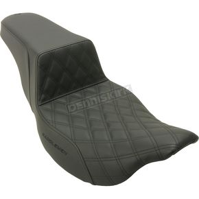Black Lattice Stitched Step Up Seat - 808-07B-172E