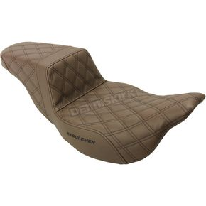 Brown Lattice Stitched Step Up Seat - 808-07B-175BREX