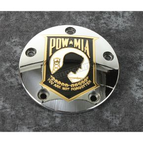 Chrome POW-MIA Timing Cover w/Gold Accent - POW05-04