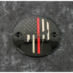Black Red Line Skull Timing Cover - FF13-63BG