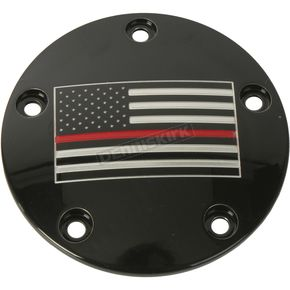 Black Red Line American Flag Timing Cover - FF12-04BG