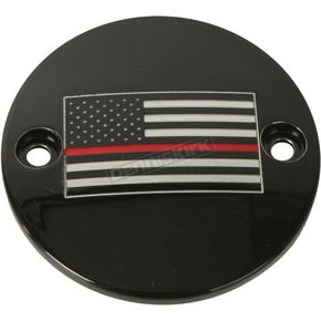 Black Red Line American Flag Timing Cover - FF12-63BG