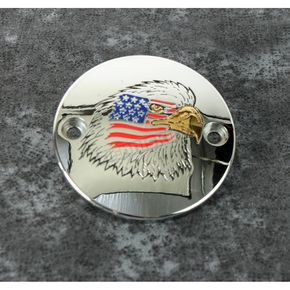 Chrome Stars and Stripes Eagle Timing Cover - PATR04-63