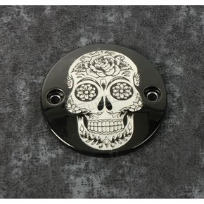 Black Sugar Skull Timing Cover - SSKUL-63BG