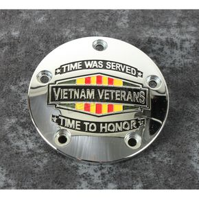 Chrome Vietnam Veterans Badge Timing Cover - VIET01-04