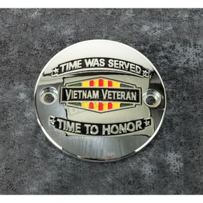 Chrome Vietnam Veterans Badge Timing Cover - VIET01-63