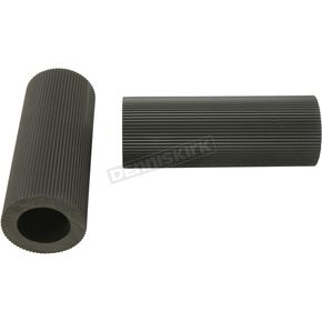 Black Buddy Seat Footpeg Rubber Set - 50940-47