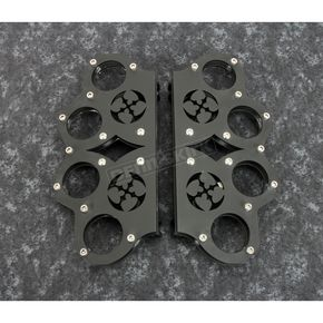 Flat Black Driver Brass Knuckle Floorboards - SQ6548111