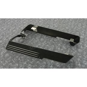 Black Powdercoated Billet Saddlebag Extension w/Dual Exhaust Cutouts - 200-BB-A