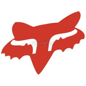 Fox Red 2.5 in. Fox Head Sticker - 14897-003-OS