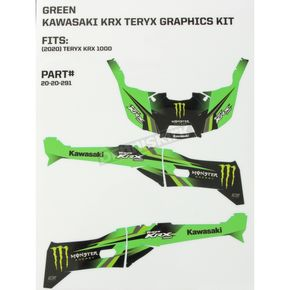 Green/Black Monster Energy Complete Graphic Kit - 20-20-291