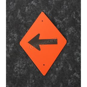 Orange Plastic Reflective Trail Horizontal Arrow Sign - 262 DA HOR