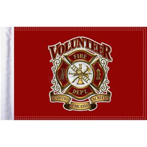 10 in. x 15 in.  Fire Department Flag - FLG-VFD15