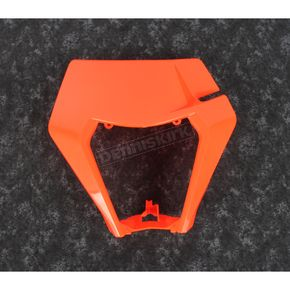 Fluorescent Orange Plastic Headlight Cover - KT05003FFLU