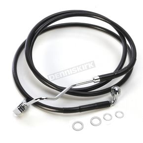 Drag Specialties Black ABS Extended Length Dual Disc Front Upper Brake Line +4 in. - 1741-4506