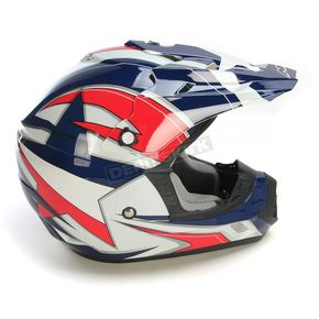 AFX Blue/White/Red FX-17 Lone Star Helmet - 0110-4444