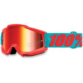 100% Accuri Passion Orange Goggles w/Mirror Red Lens - 50210-197-02