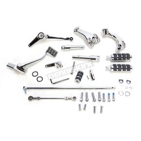 V-Factor Chrome Forward Control Kit w/Comfort Ride Pegs - 45905