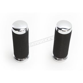 Custom Chrome Soft Touch Standard Grips - 12941