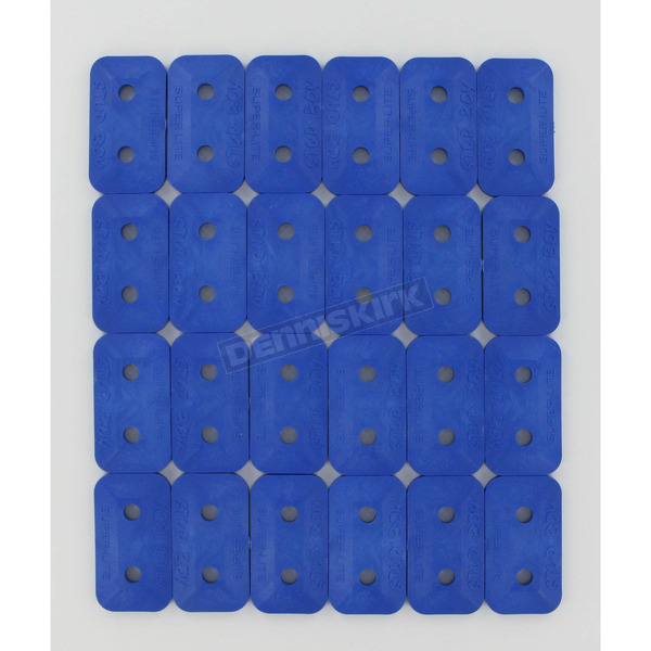 Stud Boy Super Lite +Plus Double Blue Backing Plates - 2461-P1-BLU