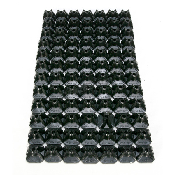 Stud Boy .75 in. Single Pro Series Super Lite Backing Plates - 2513-P8-BLK