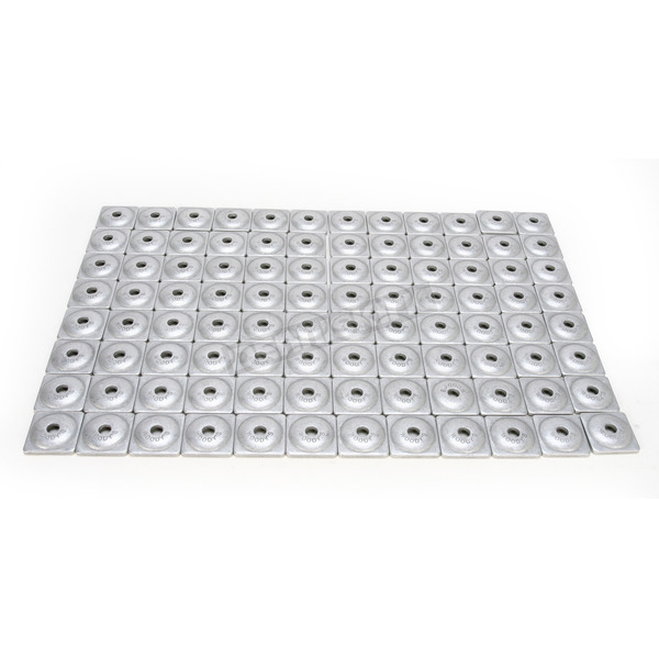 Woodys Square Aluminum Backer Plates for 7mm Studs - ASW-3725-B