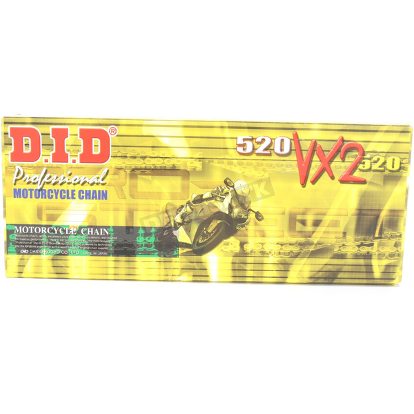 DID 520VX2 Professional X-Ring Series Chain - 520VX2X114FB
