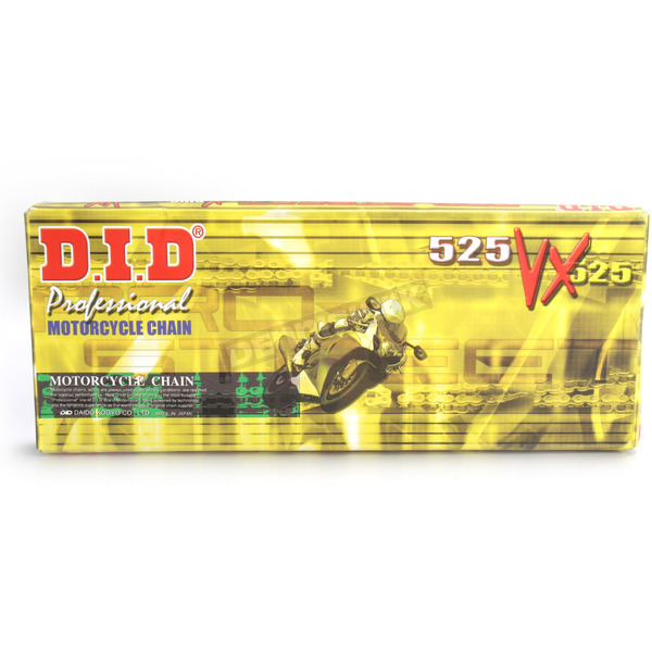 DID Gold 525VX Professional X-Ring Series Chain - 525VXG120ZB