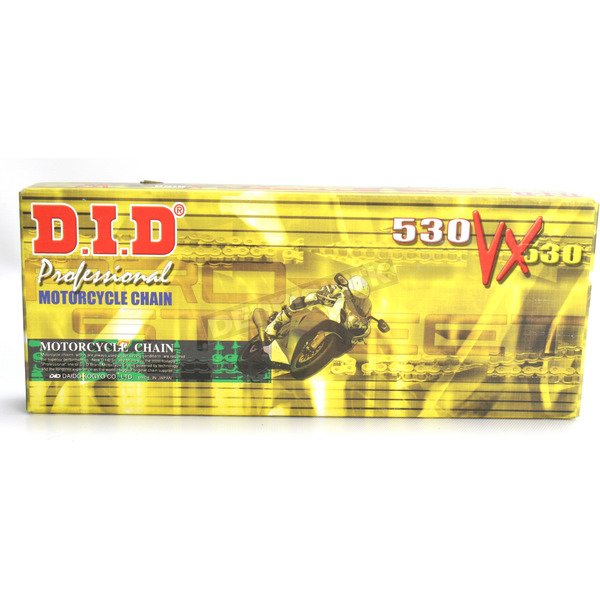 DID 530VX Professional O-Ring Series Chain - 530VXX118ZB