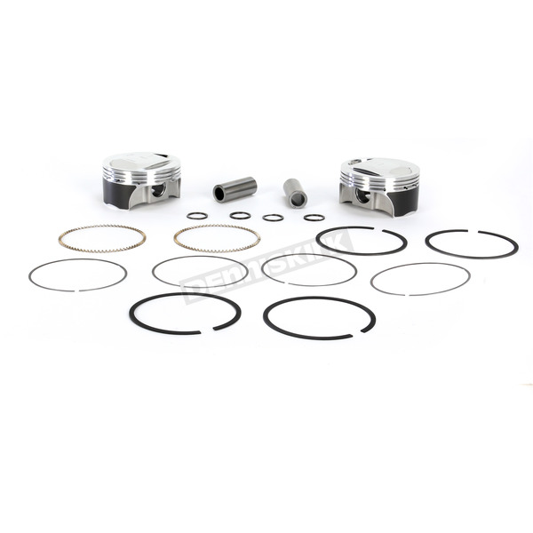 Forged Piston Kit For Twin Cam w/Screamin Eagle 95cc Heads 3.880 in. Bore - KB660C-005