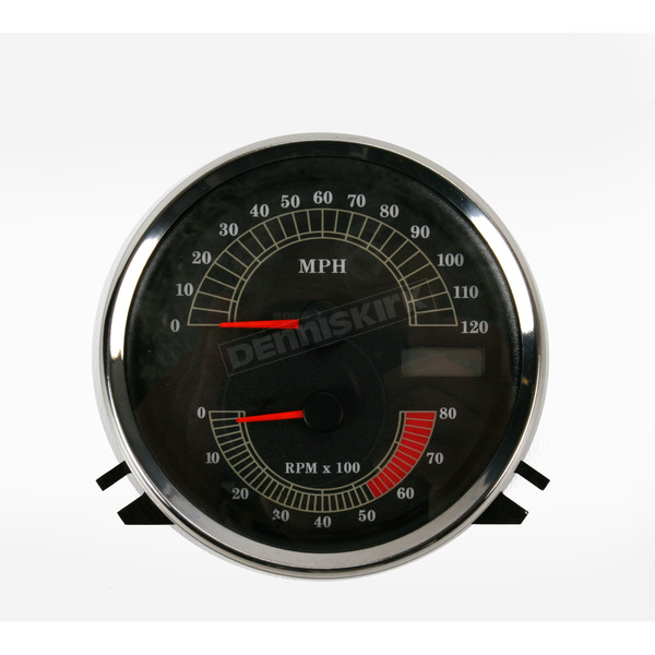 Drag Specialties Speedometer with Tach - 2210-0103