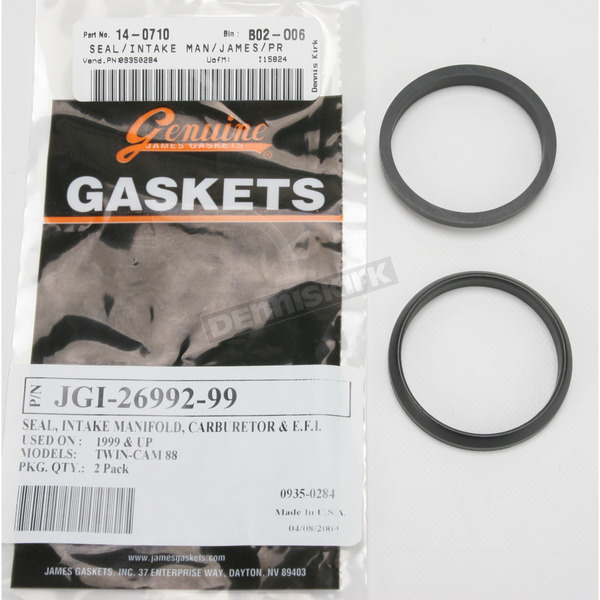 Genuine James Intake Manifold Seal - 26992-99