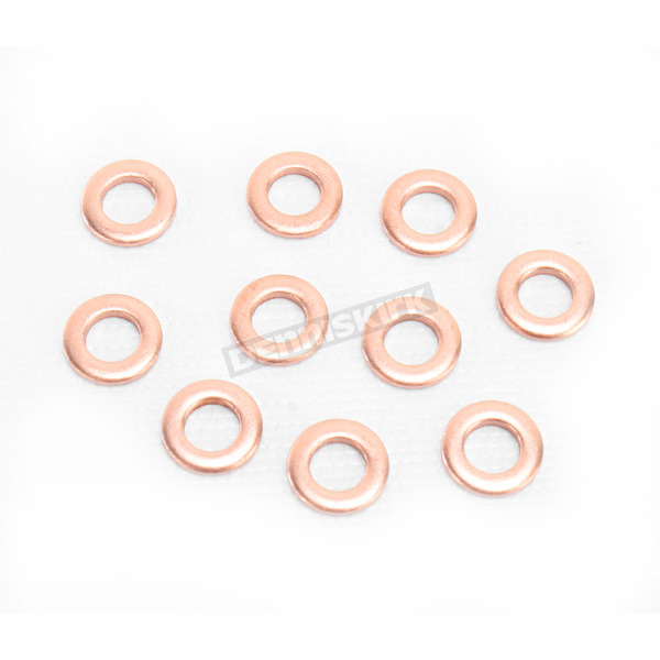 Bolt Motorcycle Hardware Copper M6 Drain Plug Washers - DPWM6.11-10