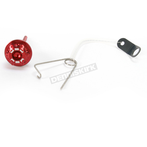 Powerstands Racing Red Oil Cap w/Dipstick - 00-01307-24