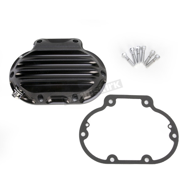 Roland Sands Design Black Ops Nostalgia Hydraulic Actuated Transmission Cover - 0177-2045-SMB