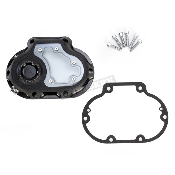 Roland Sands Design Black Ops Clarity Hydraulic Clutch Transmission Cover - 0177-2047-SMB
