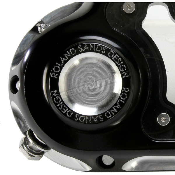 Roland Sands Design Contrast Cut Clarity Hydraulic Actuated Transmission Cover - 0177-2048-BM