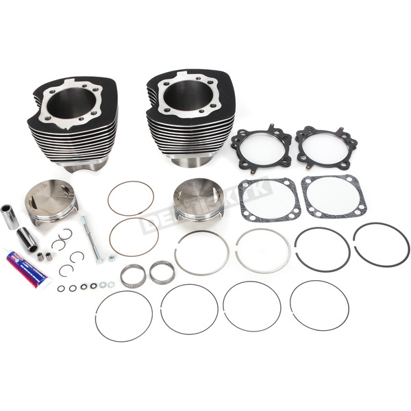 Wrinkle Black 117 in. Big Bore Cylinder and Piston Kit - 910-0221