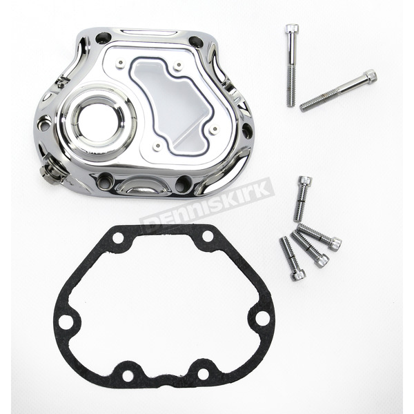 Roland Sands Design Chrome Clarity Hydraulic Clutch Actuated Transmission Cover - 0177-2050-CH