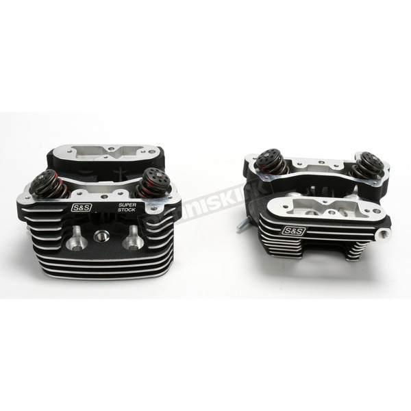 S&S Cycle Black Cylinder Heads  - 90-1504