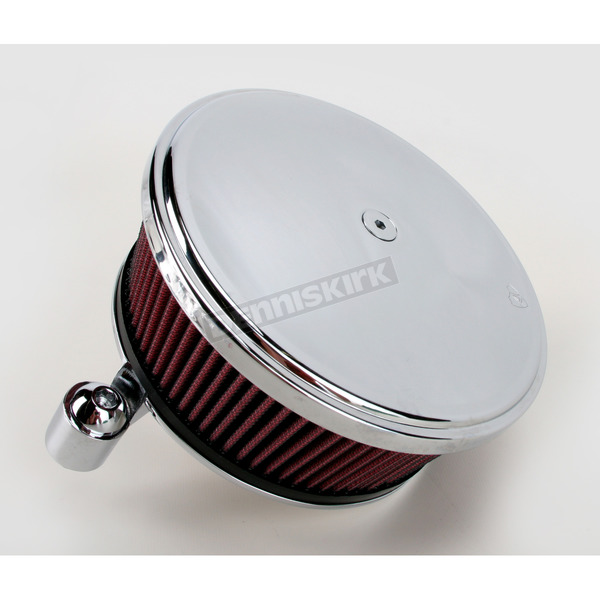 Arlen Ness Chrome Big Sucker Stage II Performance Air Cleaner Kit w/Smooth Steel Cover for CV Carb - 18-790