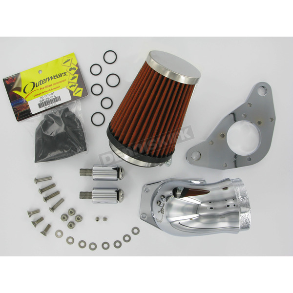 Speeds Performance Plus High-Velocity Chrome Air Cleaner Kit for CV Carb - SP771C