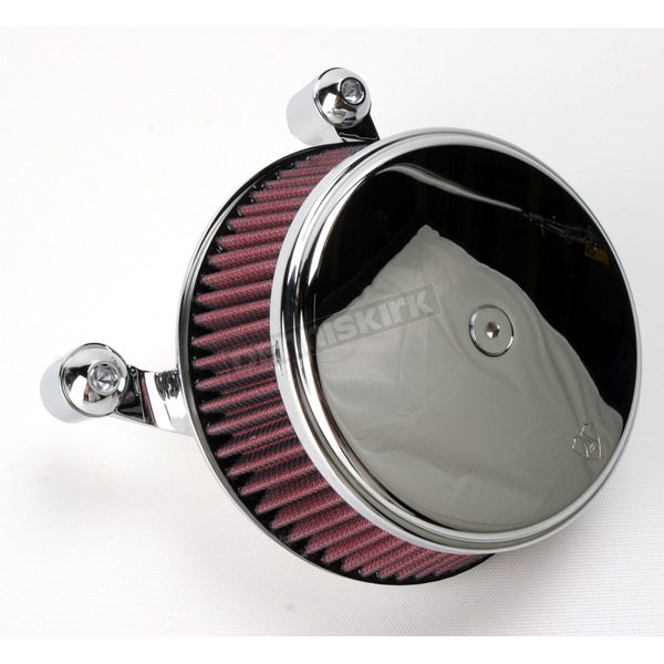 Arlen Ness Chrome Stage I Big Sucker Performance Air Cleaner Kit w/Standard Filter - 18-323