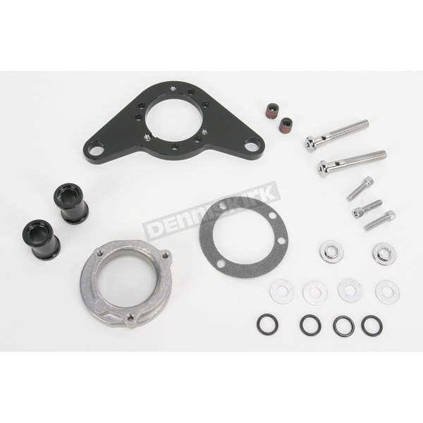 D & M Custom Cycle Black Carb Support Bracket and Breather Kit  - DM-54B