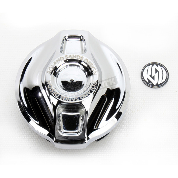 Roland Sands Design Chrome Cafe Fuel Gauge Cap - 0210-2008-CH